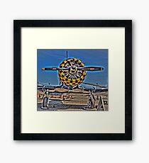 Checkered Cowl Framed Print