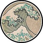 The great wave - Awesome Round design by notonlywaves