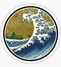 Japanese surf wave Sticker