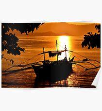 Philippine sunset Poster