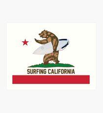 Surfing California Art Print