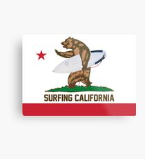 Surfing California Metal Print