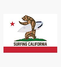 Surfing California Photographic Print