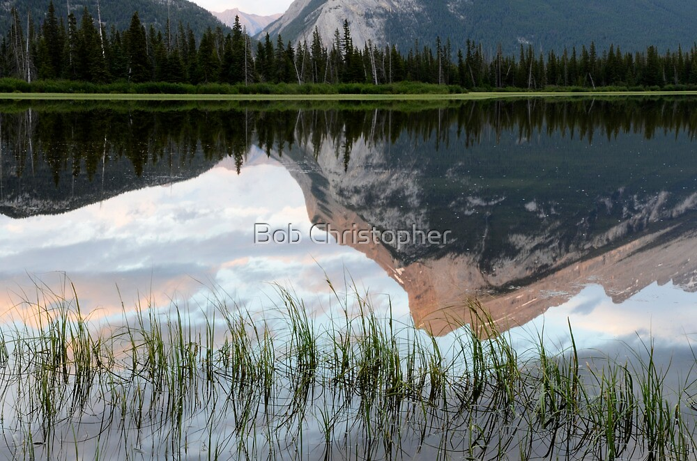 Mount Rundle Reflection by Bob Christopher