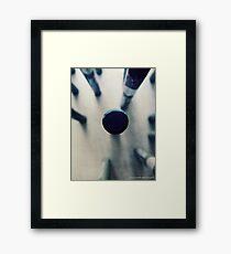 OIL PASTEL #BLUE Framed Print
