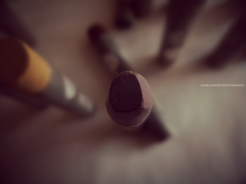 OIL PASTEL #LAVENDER by Laura E  Shafer
