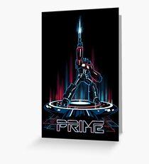 TRON-PRIME Greeting Card