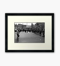 Scene from the NATO Protests (Confrontation) Framed Print