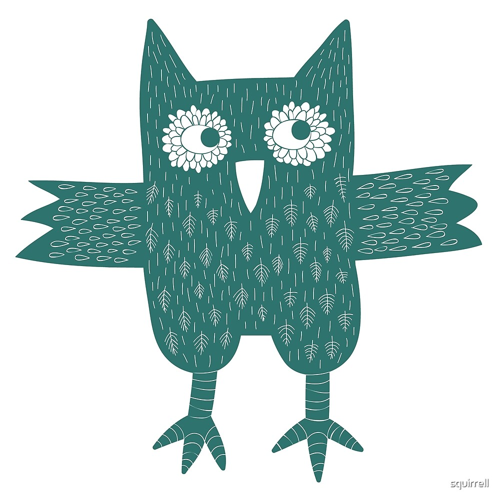 Green Owl by Nic Squirrell