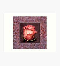 Rose With Handmade Frame  Art Print