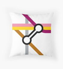 Tube Junction No6 Throw Pillow