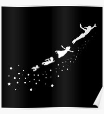 Peter Pan Flying Poster