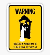 A Note of Concern Regarding Mirrors Sticker