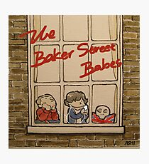 Sherlock, John, & The Baker Street Babes Photographic Print