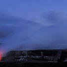Halemaumau crater erupting, by night by Sami Sarkis