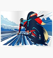 Motor racer speed demon Poster