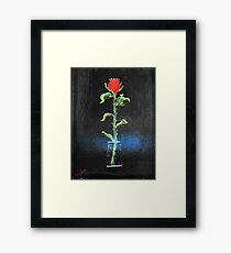 Long Tall Glass Of Water Framed Print