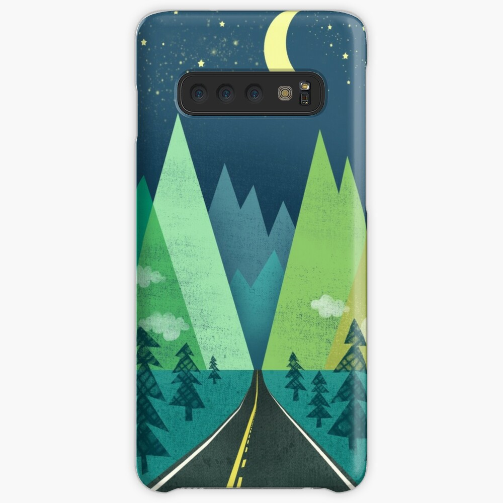 the Long Road at Night Case & Skin for Samsung Galaxy