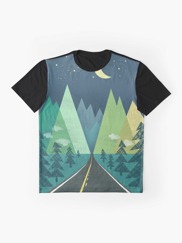 Alternate view of the Long Road at Night Graphic T-Shirt