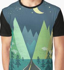 the Long Road at Night Graphic T-Shirt