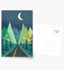 the Long Road at Night Postcards