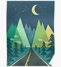 the Long Road at Night Poster