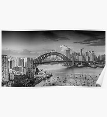 It's All Black and White - Sydney Harbour, Sydney Australia - The HDR Experience Poster