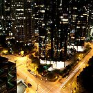 Vancouver - West Hastings By Night 2 by rsangsterkelly