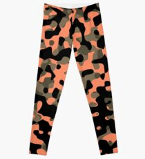Peachy Camouflage Pattern Leggings