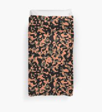 Peachy Camouflage Pattern Duvet Cover