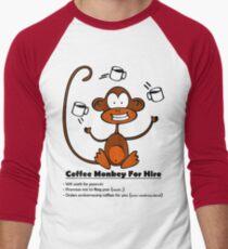 Coffee Monkey For Hire - Sticker Men's Baseball ¾ T-Shirt