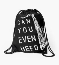 Can You Even Reed? Drawstring Bag