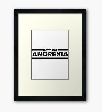 Battlestar Galactica Parody - Battling Anorexia - Fat Club  Framed Print