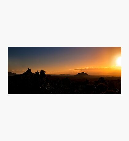 Mt Coonowrin and Mt Beewah Sunrise Photographic Print