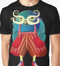 My Owl Red Pants Graphic T-Shirt