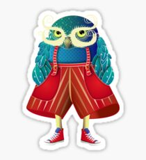 My Owl Red Pants Sticker