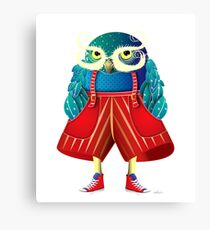 My Owl Red Pants Canvas Print