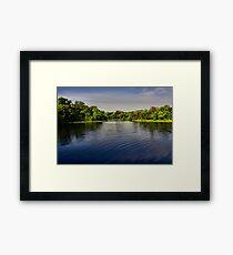 On the Edge - Lake Pickens, Sherman, Texas, USA Framed Print