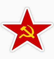 Communist Star Hammer And Sickle Sticker