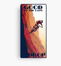 retro style mountain bike poster: Good to the Last Drop Canvas Print