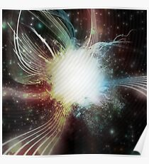 Brightly Coloured Space Nebula Poster