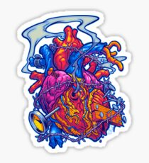BUSTED HEART Sticker