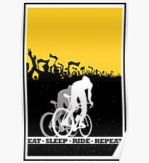Eat Sleep Ride Repeat Poster