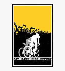 Eat Sleep Ride Repeat Photographic Print