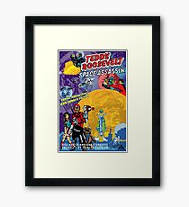 Teddy Roosevelt - Space Assassin! Framed Print