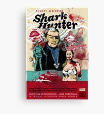 Thomas Jefferson - Shark Hunter! Canvas Print