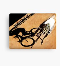 Traveling at the speed of bike retro illustration Canvas Print