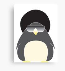 Afro Penguin  Canvas Print