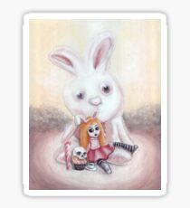 Ester and Bunny Sticker