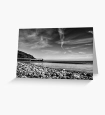 Laxey Beach on a Spring Afternoon Greeting Card